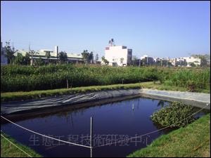 台南市仁德區二行社區人工濕地系統,每日可處理50-80CMD的社區生活污水,處理後的再生水可以用來營造生態環境與澆灌社區內的植栽。(因地主收回而移除)
